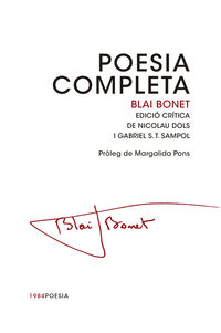 POESIA COMPLETA (BLAI BONET)