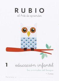 EDUCACION INFANTIL 1 - LOS ANIMALES DEL BOSQUE