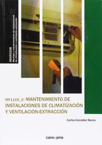 Cp - Mantenimiento De Instalaciones De Climatizacion Y Ventilacion-Extraccion (mf1159) - Aa. Vv.