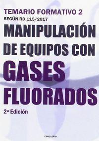 (2 ED) TEMARIO FORMATIVO 2 - MANIPULACION DE EQUIPOS CON GASES FLUORADOS
