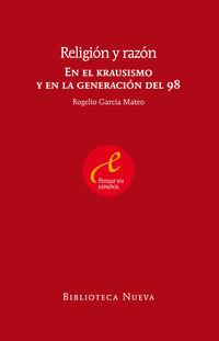 religion y razon - en el krausismo y en la generacion del 98 - Rogelio Garcia Mateo