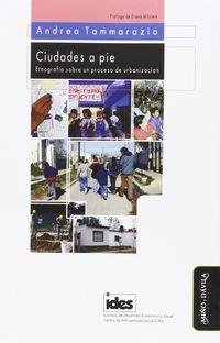 Ciudades A Pie - Etnografia Sobre Un Proceso De Urbanizacio - Andrea Tammarazio