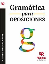 Gramatica Para Oposiciones - Aa. Vv.