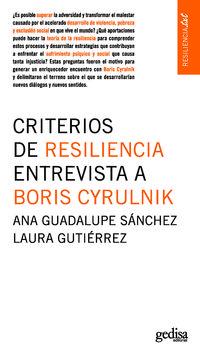 CRITERIOS DE RESILIENCIA - ENTREVISTA A BORIS CYRULNIK