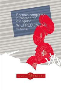 Poemas Completos Y Fragmentos Escogidos - Wilfred Owen