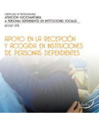 CP - APOYO EN LA RECEPCION Y ACOGIDA EN INSTITUCIONES DE PERSONAS DEPENDIENTES