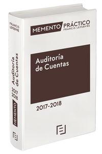 MEMENTO PRACTICO AUDITORIA 2017-2018