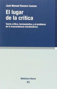 El lugar de la critica - Jose Manuel Romero Cuevas