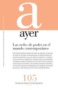 REVISTA AYER 105 - LAS REDES DE PODER EN EL MUNDO