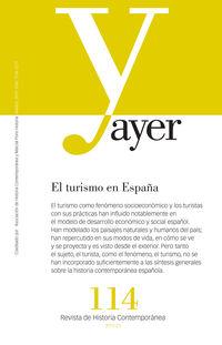 REVISTA AYER 114 - EL TURISMO EN ESPAÑA