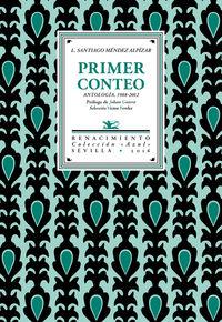 primer conteo - antologia de poemas (1988-2012) - L. Santiago Mendez Alpizar