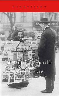 eternidad de un dia, la - clasicos del periodismo literario aleman (1823-1934) - Aa. Vv.