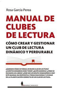 Manual De Clubes De Lectura - Rosario Garcia Perea