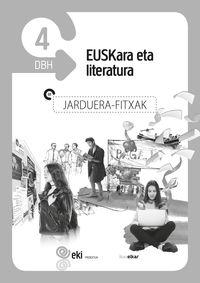DBH 4 - EKI - EUSKARA ETA LITERATURA 4 - JARDUERA FITXAK