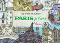 PARIS JE T'AIME - 20 POSTCARDS