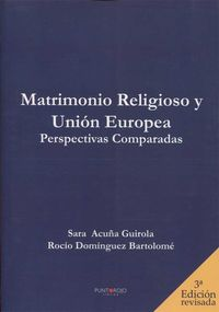 MATRIMIO RELIGIOSO Y UNION EUROPEA - PERSPECTIVAS COMPARATI