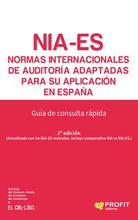 NORMAS INTERNACIONALES DE AUDITORIA ADAPTADAS PARA SU PUBLICACION EN ESPAÑA - GUIA DE CONSULTA RAPIDA