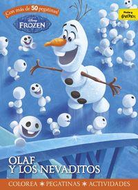 Frozen - Olaf Y Los Nevaditos - Actividades Con Pegatinas - Aa. Vv.