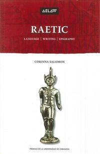 Raetic - Language, Writing, Epigraphy - Corinna Salomon