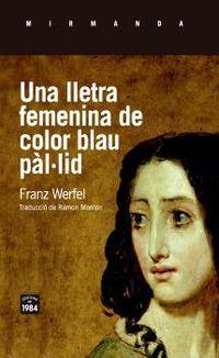 LLETRA FEMENINA DE COLOR BLAU PALLID, UNA