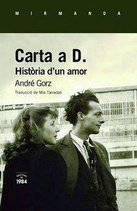 Carta A D. - Historia D'un Amor (catalan) - Andre Gorz