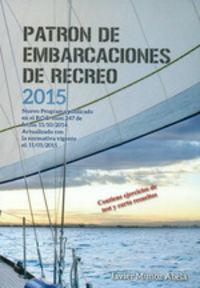 PATRON DE EMBARCACIONES DE RECREO 2015 (2ª ED. )