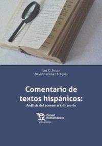 comentario de textos hispanicos - analisis del comentario literario (+ebook) - Luz C. Souto