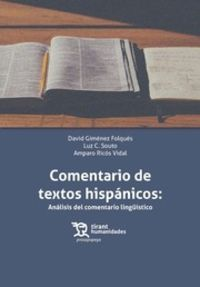 comentario de textos hispanicos - analisis del comentario linguistico (+ebook) - David Gimenez Folques