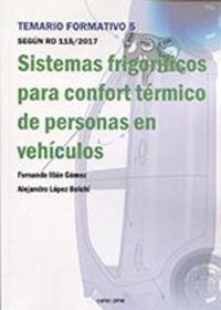 SISTEMAS FRIGORIFICOS PARA CONFORT TERMICO DE PERSONAS EN VEHICULOS