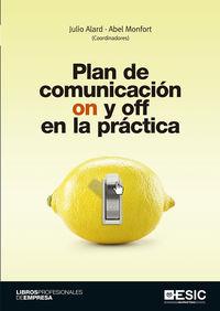 PLAN DE COMUNICACION ON Y OFF EN LA PRACTICA