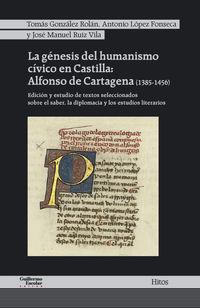 Genesis Del Humanismo Civico En Castilla, La - Alfonso De Cartagena (1385-1456) - Alfonso De Cartagena