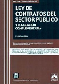 (2 ED) LEY DE CONTRATOS DEL SECTOR PUBLICO Y LEGISLACION COMPLEMENTARIA