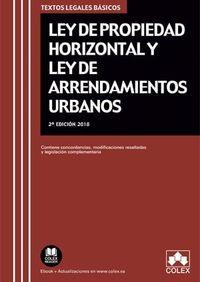 (2 Ed) Ley De Propiedad Horizontal Y Ley De Arrendamientos Urbanos - Aa. Vv.