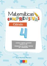EP 2 - CALCULO 4 - MATEMATICAS COMPRENSIVAS - SUMAS Y RESTAS LLEVANDO HASTA 199