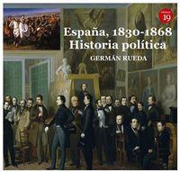 ESPAÑA, 1830-1868 - HISTORIA POLITICA