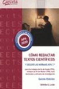 (7 Ed) Como Redactar Textos Cientificos Y Seguir La Normas Apa - Orfelio Gerardo Leon