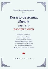ROSARIO DE ACUÑA, HIPATIA (1850-1923) - EMOCION Y RAZON