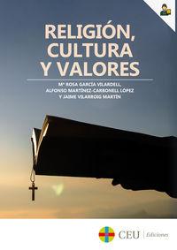 RELIGION, CULTURA Y VALORES