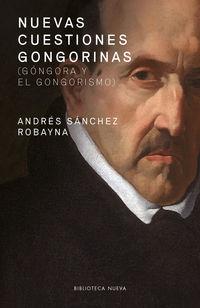nuevas cuestiones gongorinas - Andres Sanchez Robayna