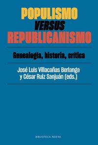 Populismo Versus Republicanismo - Jose Luis Villacañas Berlanga / Cesar Ruiz Sanjuan
