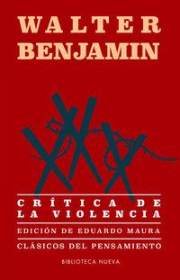 Critica De La Violencia - Walter Benjamin