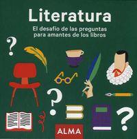 LITERATURA - EL DESAFIO DE LAS PREGUNTAS PARA AMANTES DE LOS LIBROS