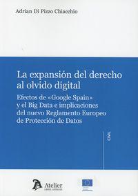 EXPANSION DEL DERECHO AL OLVIDO DIGITAL, LA - EFECTOS DE GOOGLE SPAIN Y EL BIG DATA E IMPLICACIONES DEL NUEVO REGLAMENTO EUROPEO DE PROTECCION DE DATOS