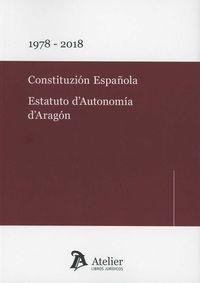 CONSTITUZION ESPAÑOLA - ESTATUTO D'AUTONOMIA D'ARAGON (ARAGONES)