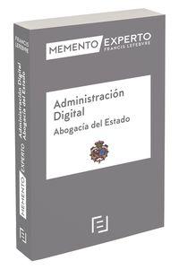 MEMENTO EXPERTO ADMINISTRACION DIGITAL - ABOGACIA DEL ESTADO