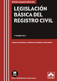 LEGISLACION BASICA DEL REGISTRO CIVIL