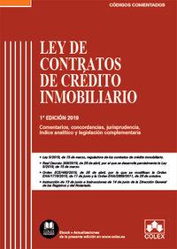 LEY DE CONTRATOS DE CREDITO INMOBILIARIO