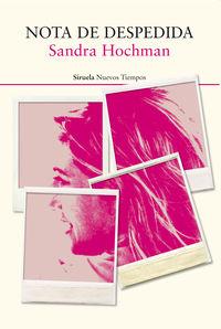 Nota De Despedida - Sandra Hochman