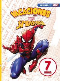 7 / 8 AÑOS - VACACIONES CON SPIDER-MAN - LIBRO EDUCATIVO MARVEL CON ACTIVIDADES