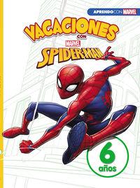 4 / 6 Años - Vacaciones Con Spider-Man - Libro Educativo Marvel Con Actividades - Marvel